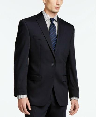 450 solid navy slim fit suit jacket