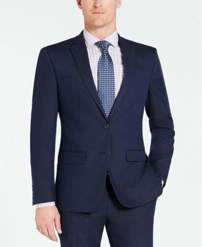$495 Van Heusen Slim-Fit Flex Wrinkle-Resistant Dark Blue Su