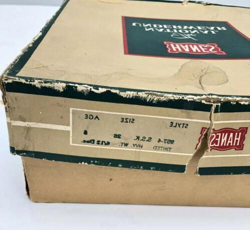 6 pair + 1930s-1940s? HANES Union Suit Size 28 Age & 10