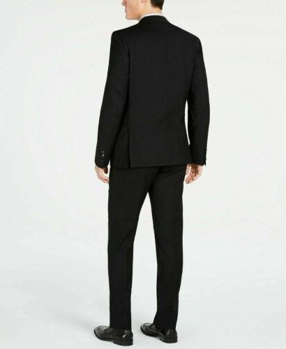 $600 Solid Slim Suit / Flat Wool