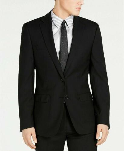 $600 Calvin Solid Slim X Suit Flat Pant
