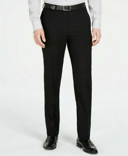$600 Calvin Solid Slim X Flat Pant