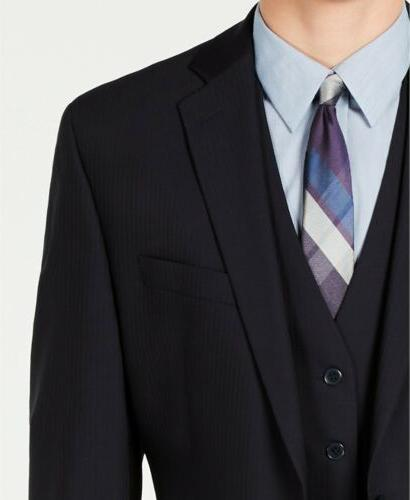 $600 Calvin Klein Stretch Stripe Suit 36S x 30