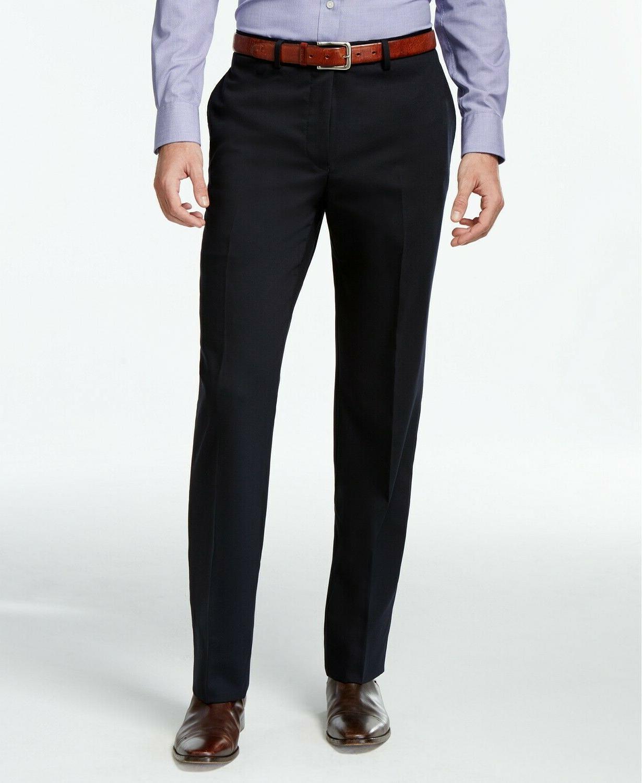 $600 Calvin Klein Navy 42R 36W Flat Pant