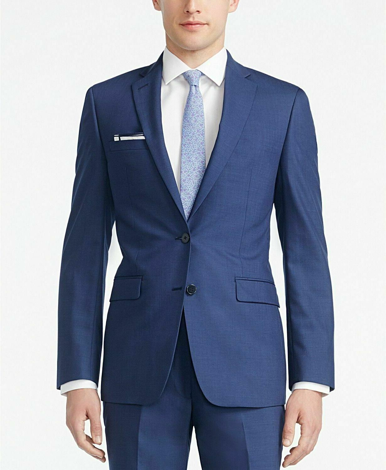 CALVIN KLEIN 10042 Slim Fit MEN 2PC Suit 42R