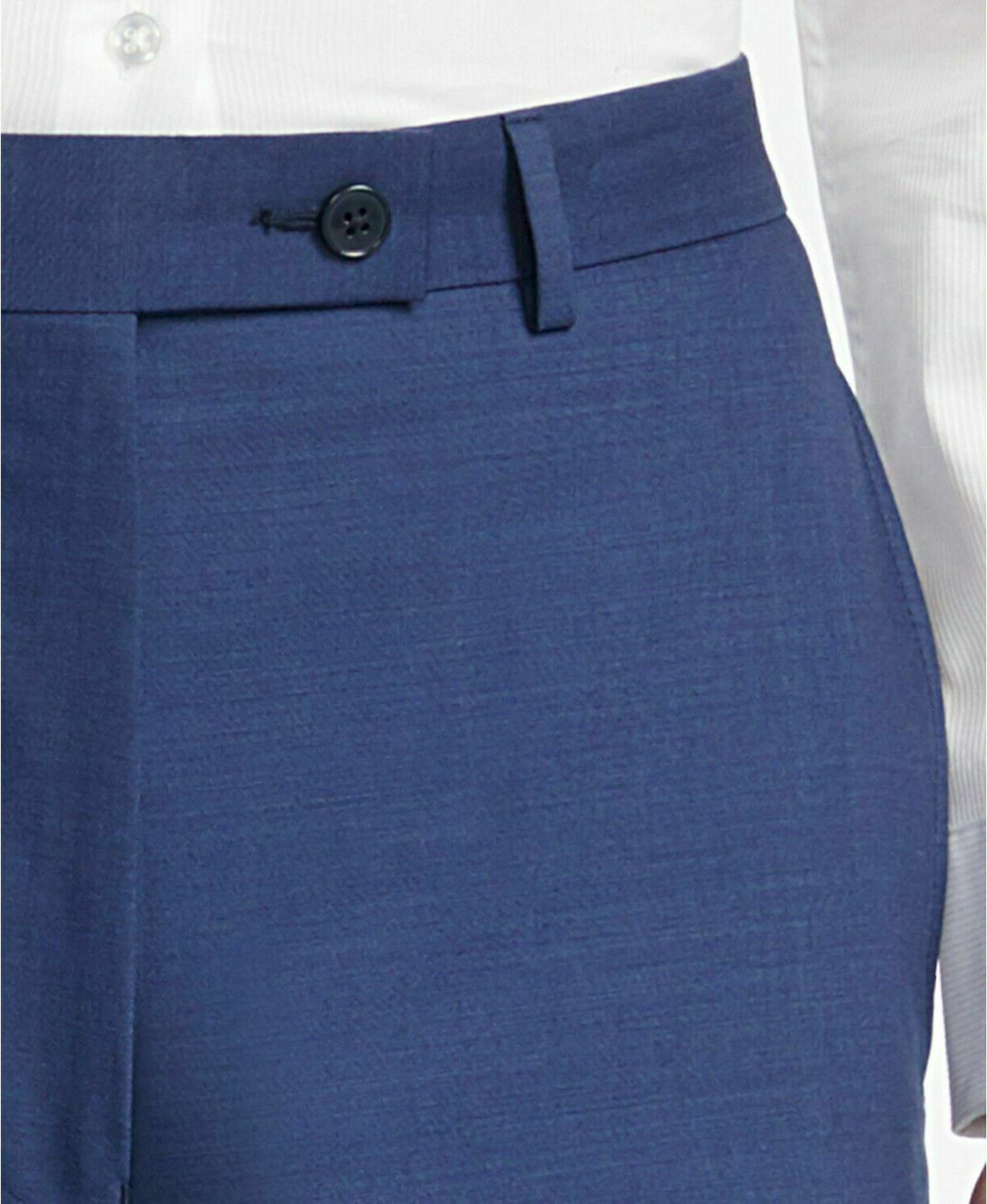 CALVIN 10042 100% Slim Fit Blue 2PC Suit 42R