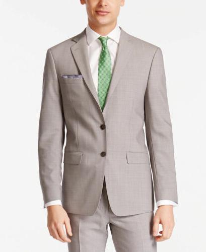 $630 CALVIN KLEIN Extreme Slim Fit Wool Sport Coat Gray SUIT