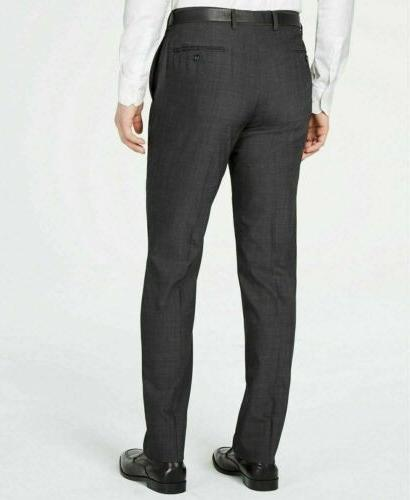$650 Men's Slim-Fit Charcoal Herringbone Suit 40S