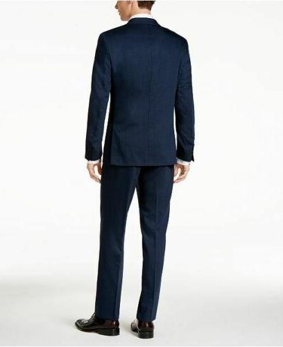 $650 Slim-Fit Dark Vested Suit 36S 33W