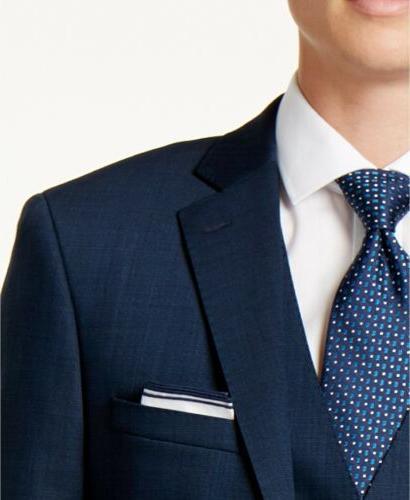 $650 Calvin Slim-Fit Vested Suit 33W