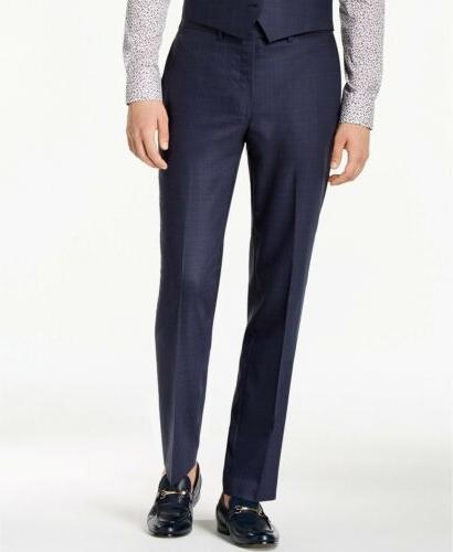 $650 Klein Slim-Fit Stretch Blue 2PC Suit 40R 33 x