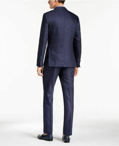 $650 Men's Slim-Fit Stretch Blue 2PC 40R /