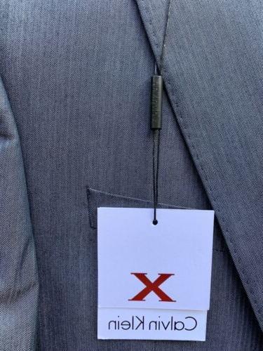 $650 Suit X-Fit Blue Slim Fit Pants 33