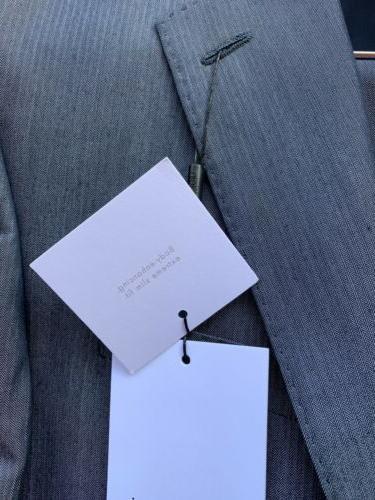 $650 Calvin Klein Suit X-Fit Blue Slim Pants 33