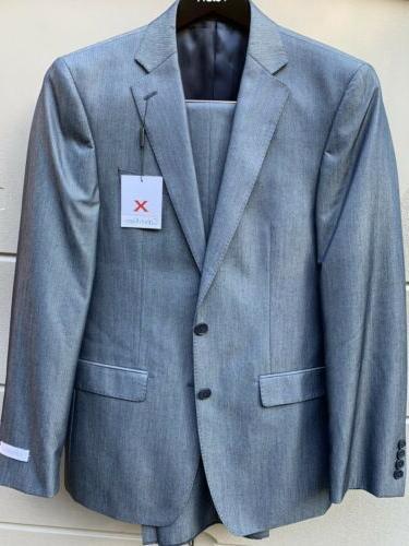$650 Men Suit X-Fit Blue Pants NEW