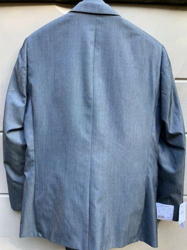 $650 Calvin Klein Men Suit Blue Slim Pants NEW