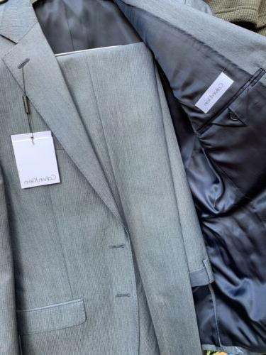 $650 Klein Suit X-Fit Blue Slim Fit Pants