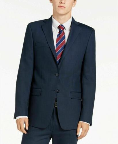 650 slim fit stretch blue charcoal birdseye