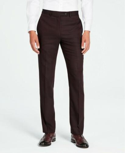 $650 Calvin X-Fit Slim-Fit Burgundy Suit 38 x 32