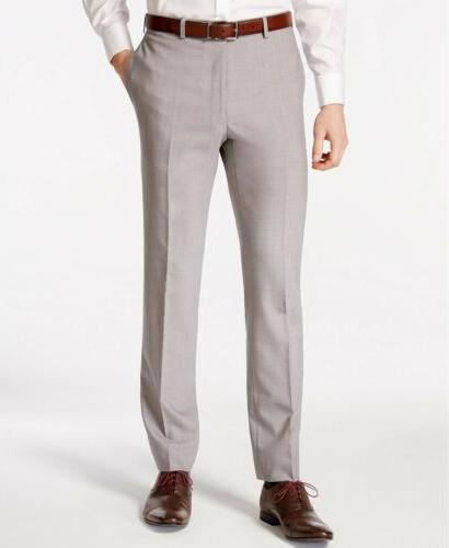 $650 Calvin Klein X-Fit Solid Slim Fit Suit X Light Grey Wool