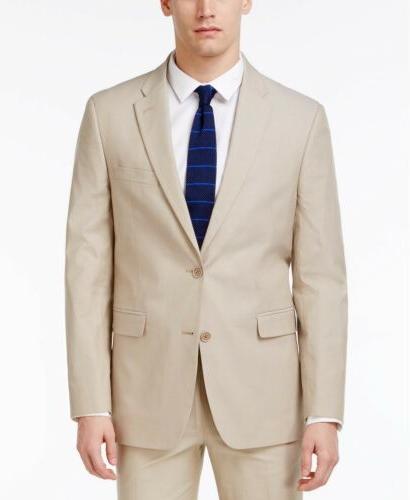 $655 TOMMY HILFIGER Men's NEW Fit Sport Coat BEIGE SUIT JACK