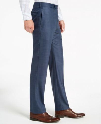 $700 Calvin Klein Slim-Fit Blue Neat Suit x