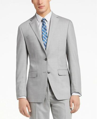 $799 R Men's GRAY SLIM FIT WOOL JACKET