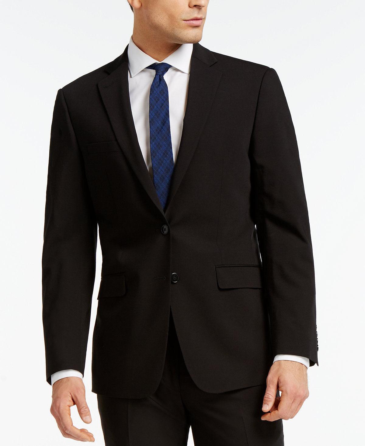 Extreme Slim Fit Wool Black PIECE JACKET PANT