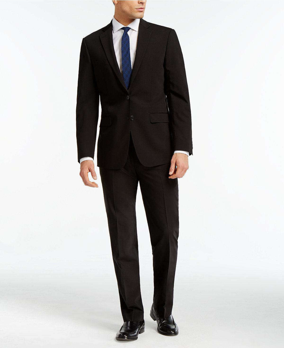 $815 KLEIN Extreme Slim X Wool Suit 2 PIECE