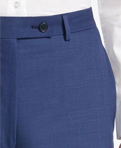$850 CALVIN KLEIN Men's X SLIM FIT WOOL SUIT SOLID PANTS