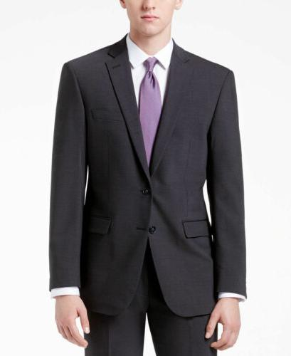 GRAY 2 PIECE WOOL SUIT JACKET