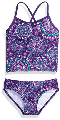 Kanu Surf Girls' Big Melanie Tankini Swimsuit, Purple, 12