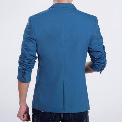 Men's Casual Slim Fit Business Work Coat Outwear