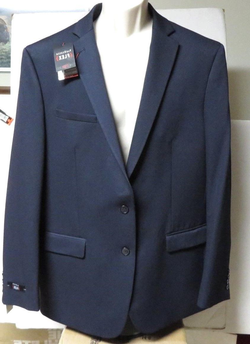 e259a4452c1e Men's VAN HEUSEN Flex Navy Slim Fit Stretch Suit Jacket Nwt