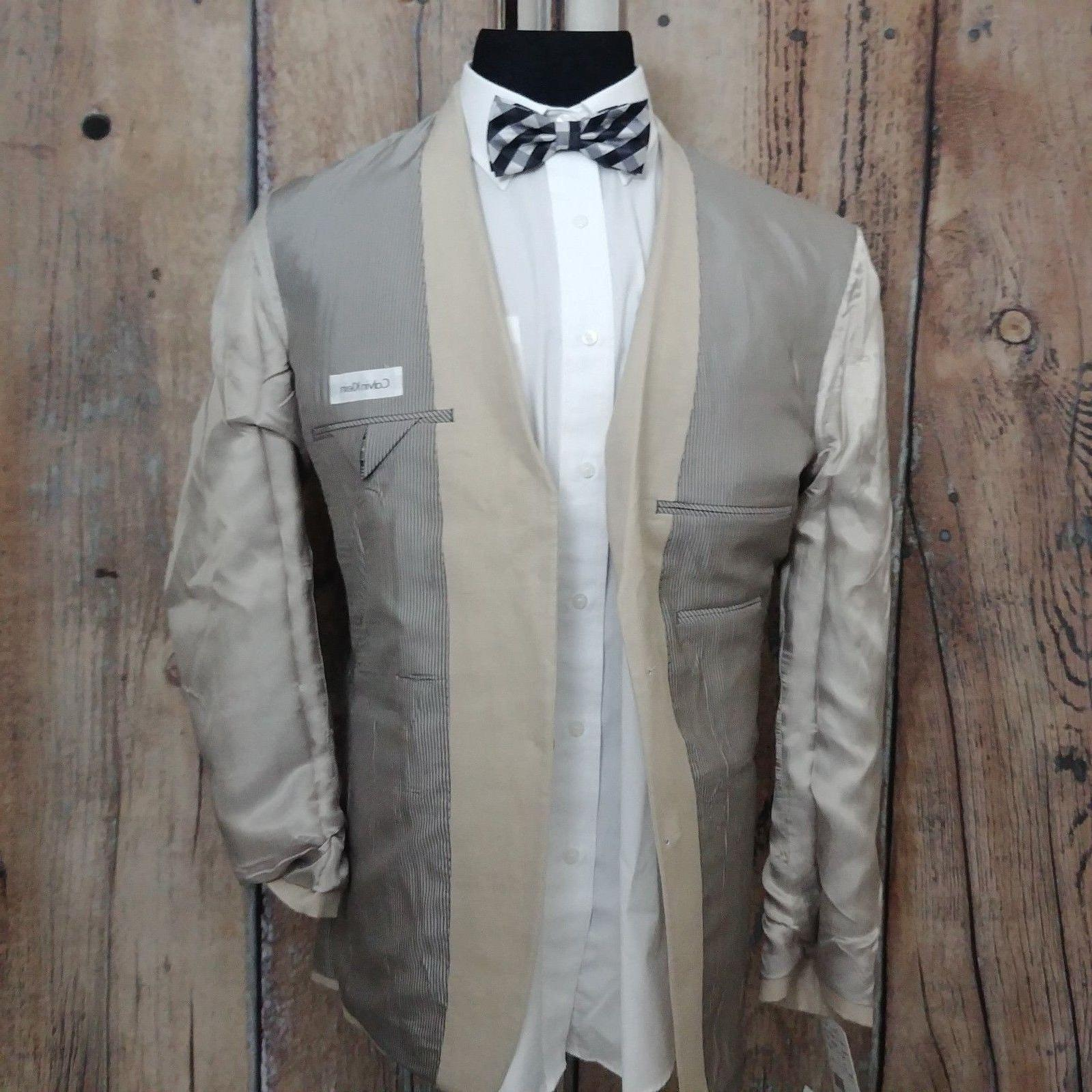 NEW Sport Linen Button Khaki Blazer Jacket