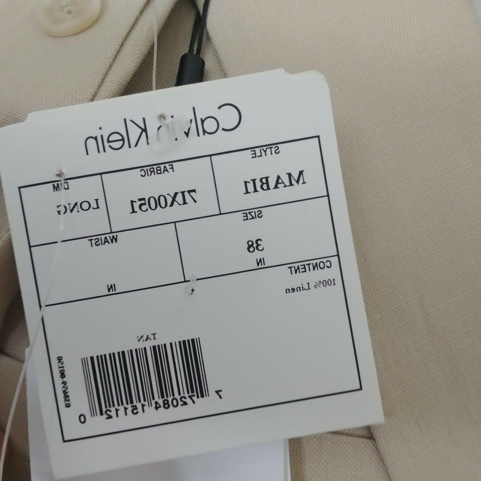 NEW $350 Calvin Sport Coat Mens 100% Linen 2 Button Blazer