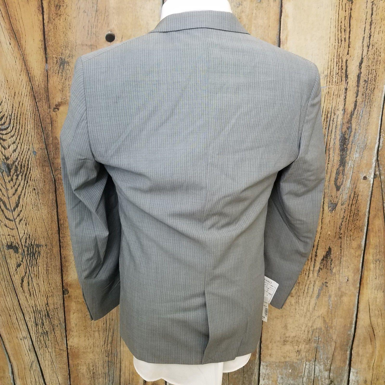NEW Striped Wool Grey Jacket Blazer