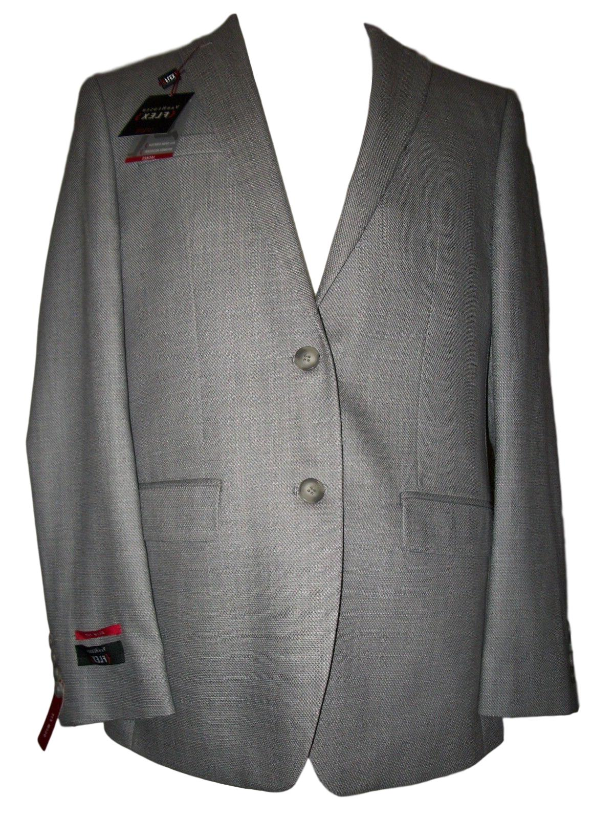 NEW NWT Men's VAN HEUSEN Flex Grey Slim Fit Suit Jacket Coat