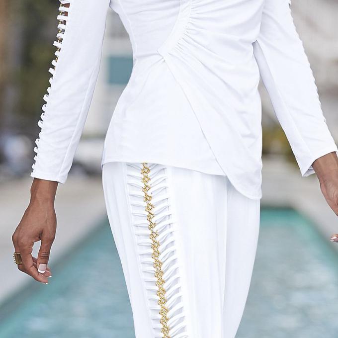 Ashro & Pant Set Gold S XL PLUS Piece Suit