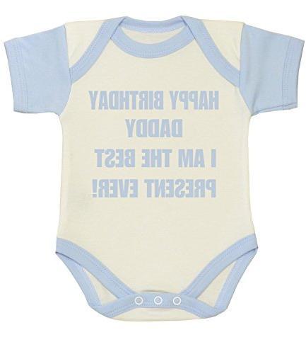 baby happy birthday daddy best present clothes