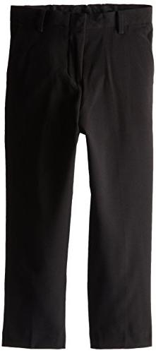 Calvin Klein Little Boys' Bi-Stretch Flat Front Pant, Black,