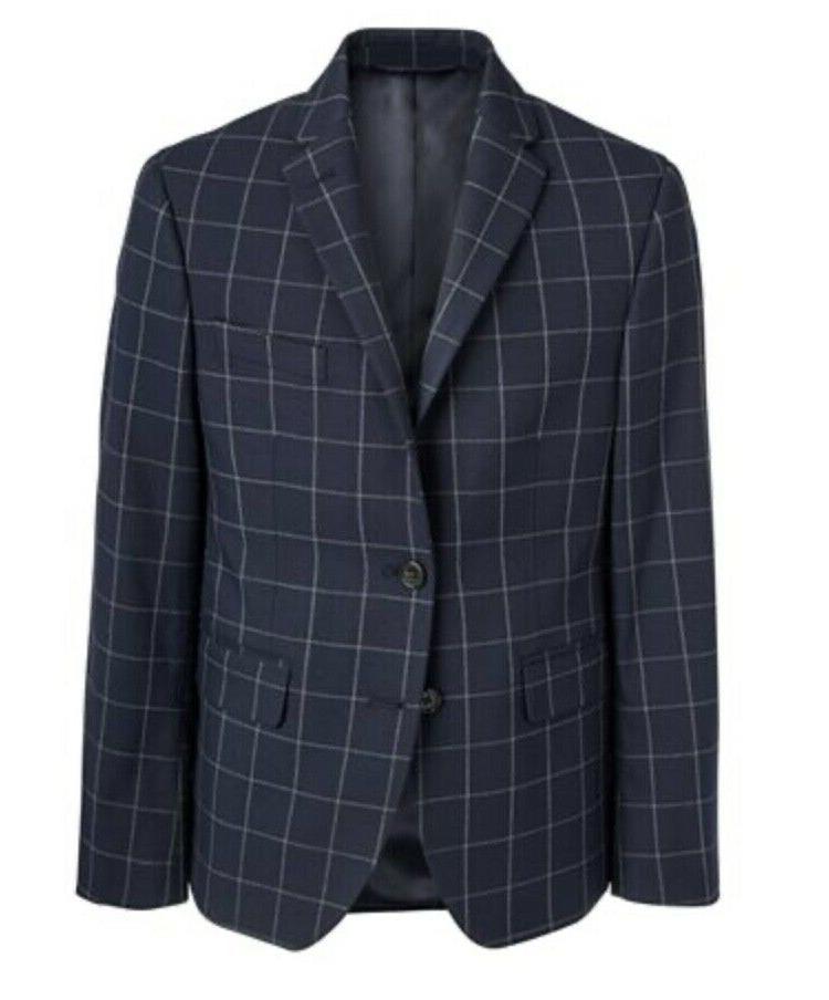 Lauren Ralph Lauren Big Boys Classic-Fit Stretch Blue Coat 14