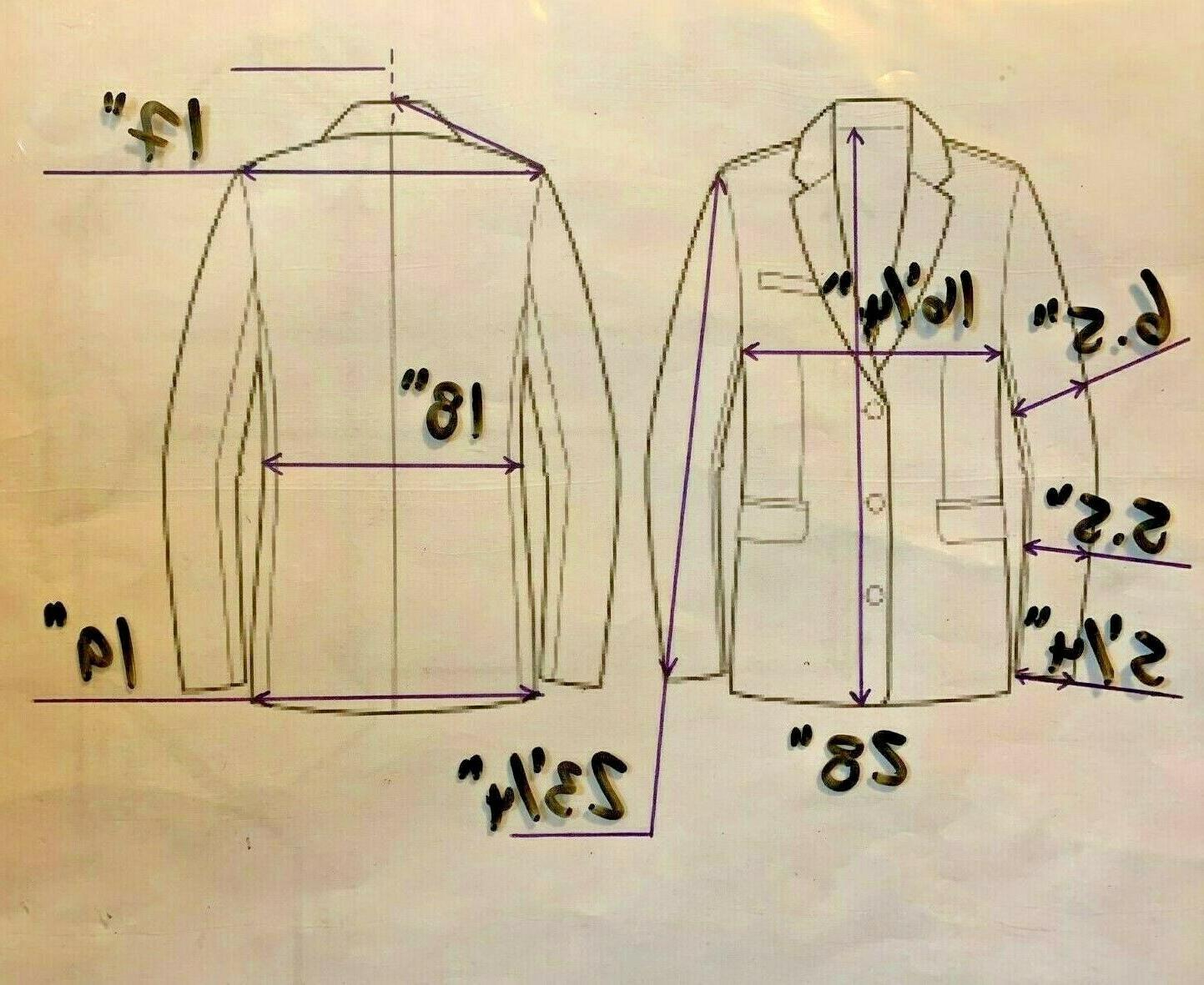 Calvin Klein Big Youth 3-Button Cuff Bi-Stretch Suit Jacket 18 Reg