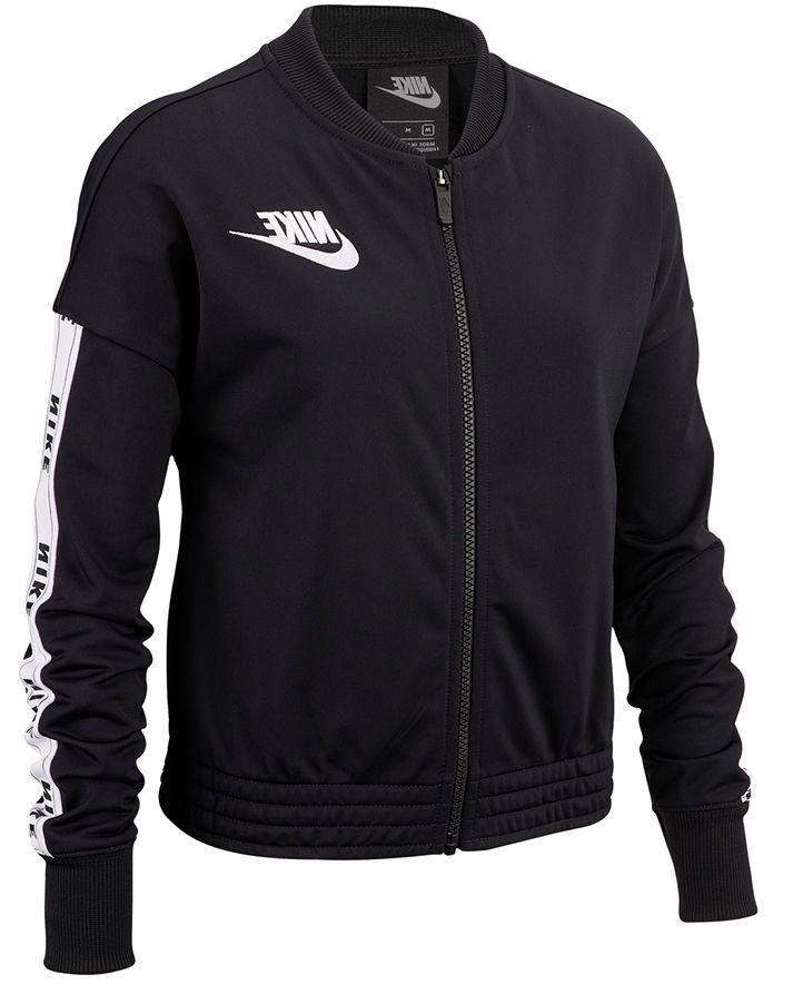 NWOT Big Girls' Nike Youth Track Suit Jacket, Black w/ White