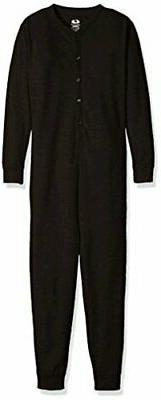 Fruit of the Loom Big Girls' Union Suit, Black Soot, XL