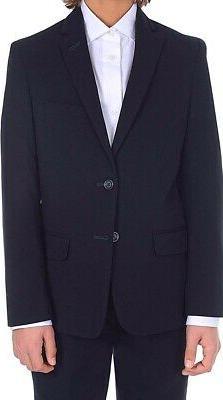 Calvin Klein Boy's Suit Blazer Navy Blue Size 14 Modern-Fit