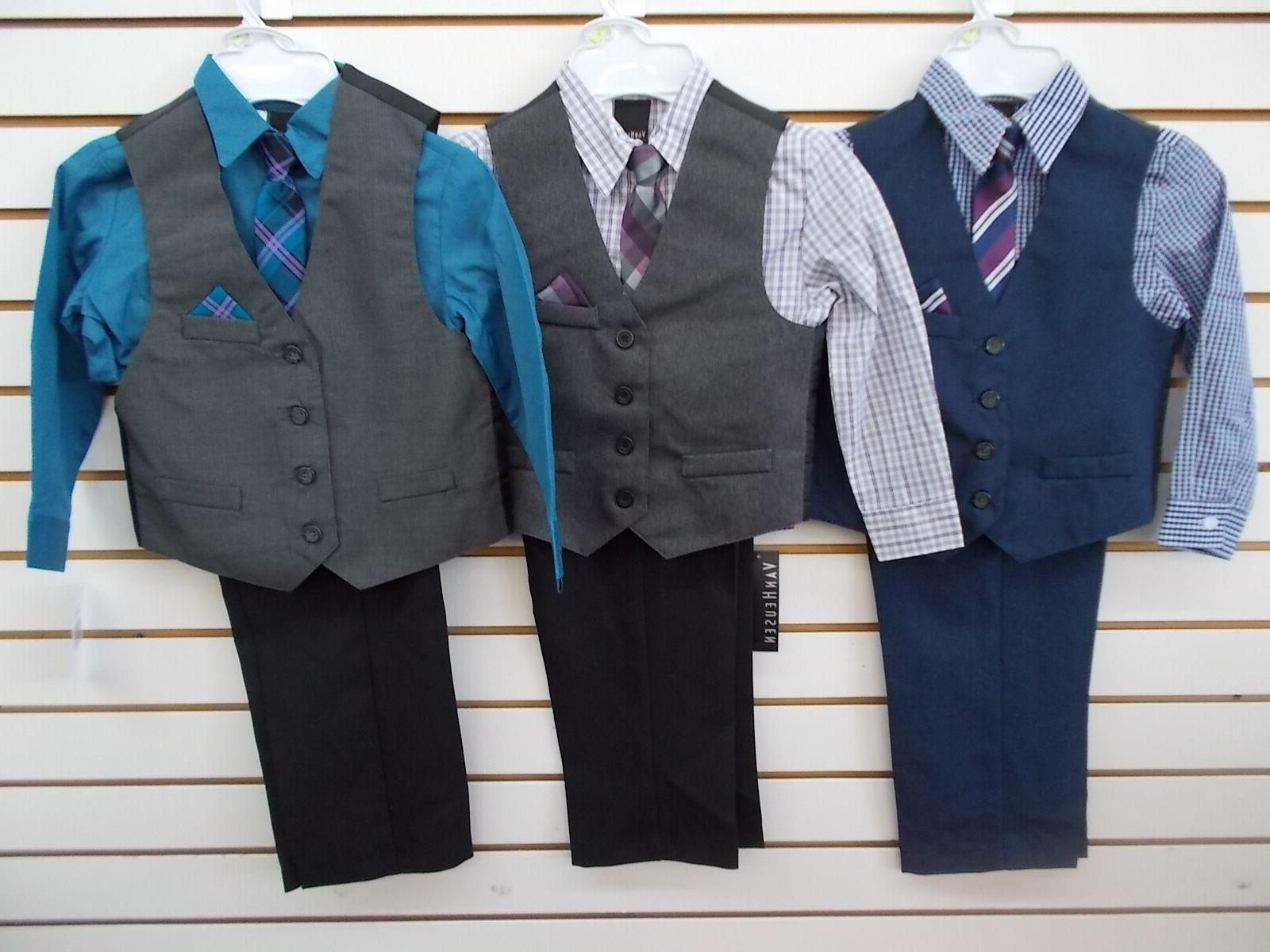 boys 50 4pc assorted vest suits size