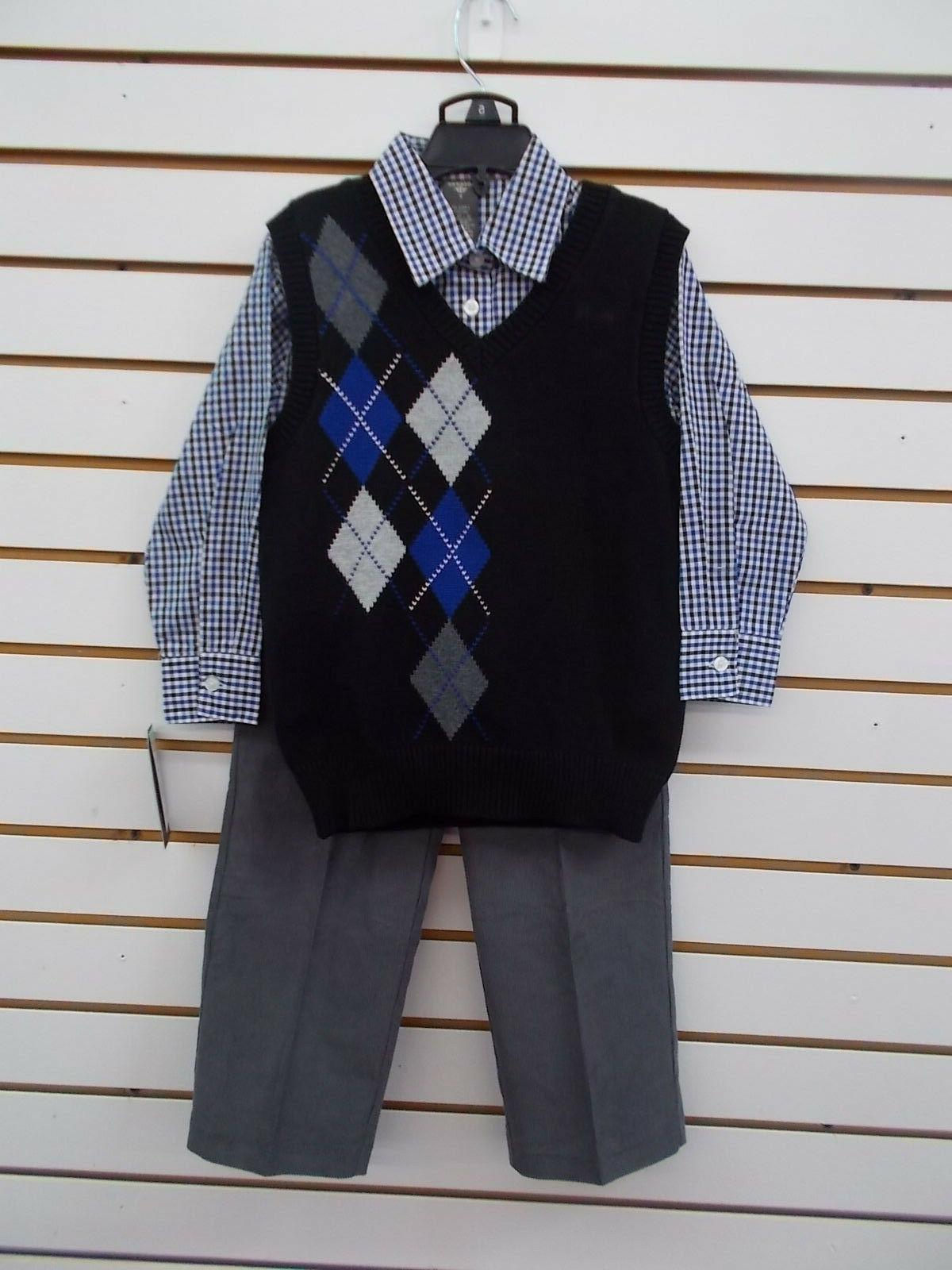 boys 52 3pc black gray and blue