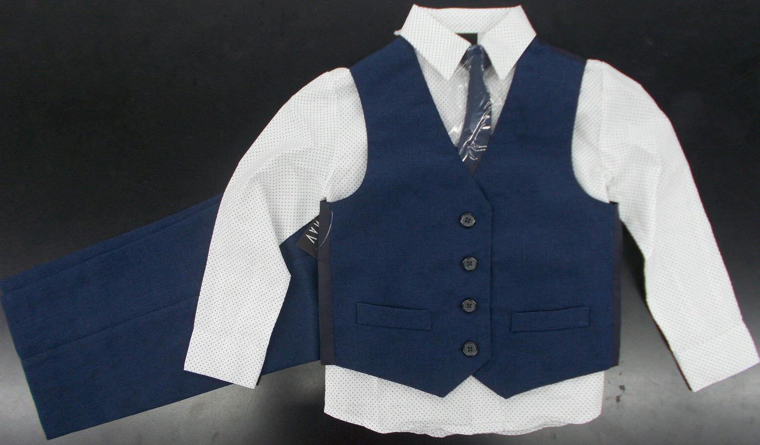 boys 54 4pc navy and white vest