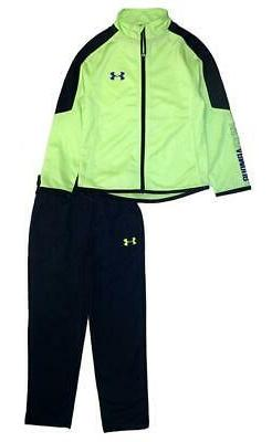 Under Armour Boys Quirky Lime & Navy 2pc Track Suit Size 5